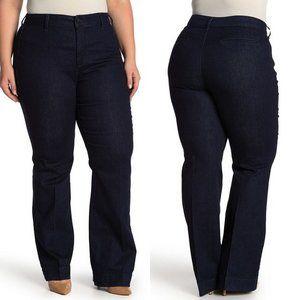 NYDJ Teresa Wide Leg Indigo Rinse Trouser Jeans